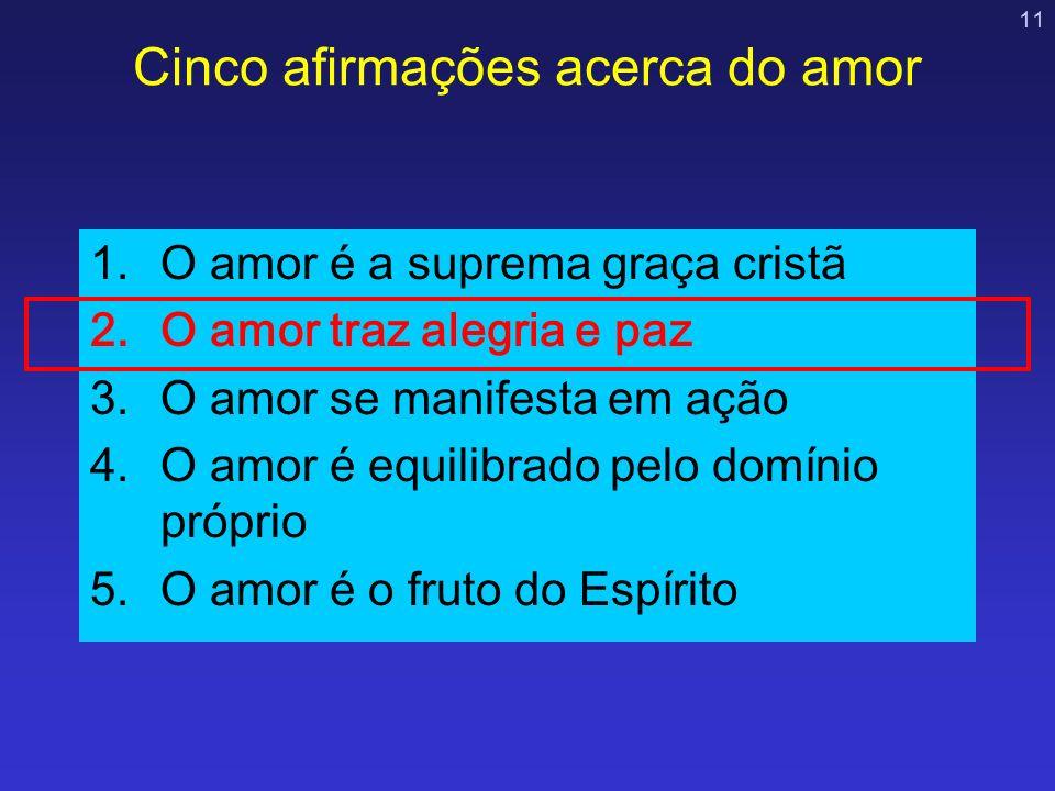 Cinco afirmações acerca do amor