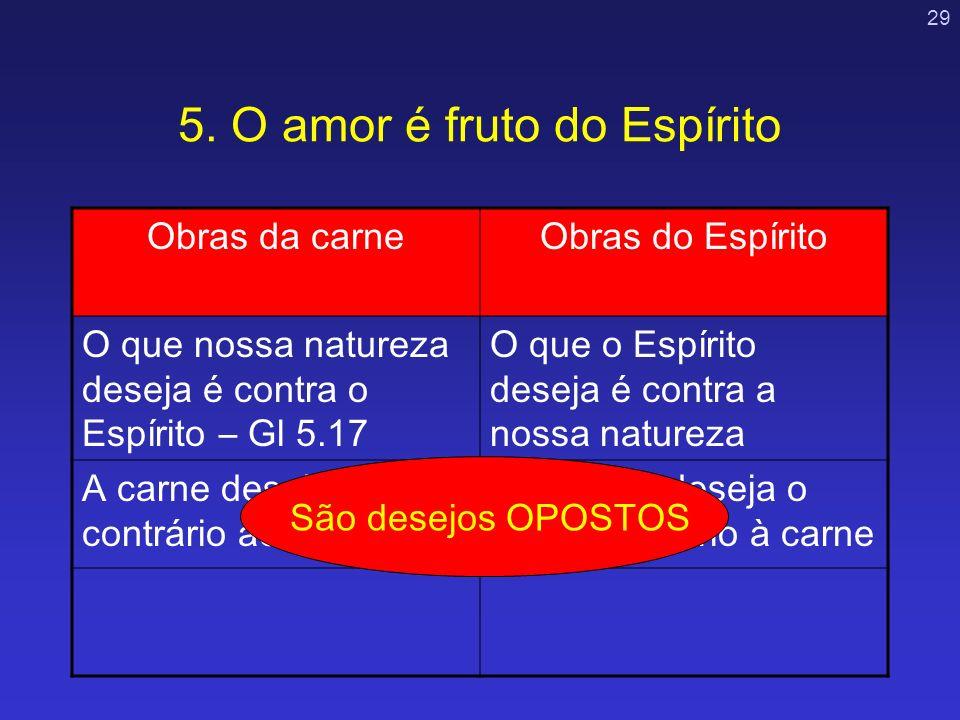 5. O amor é fruto do Espírito