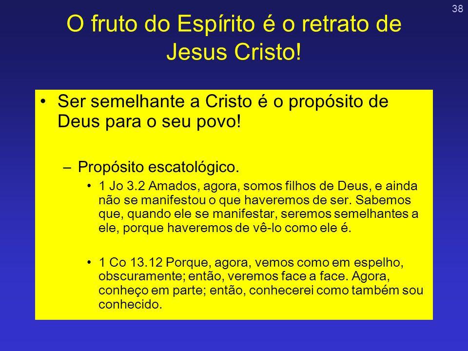 O fruto do Espírito é o retrato de Jesus Cristo!