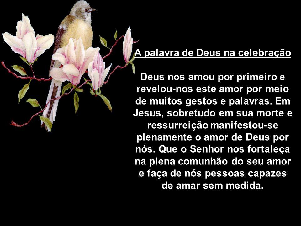 A palavra de Deus na celebração Deus nos amou por primeiro e revelou-nos este amor por meio de muitos gestos e palavras.