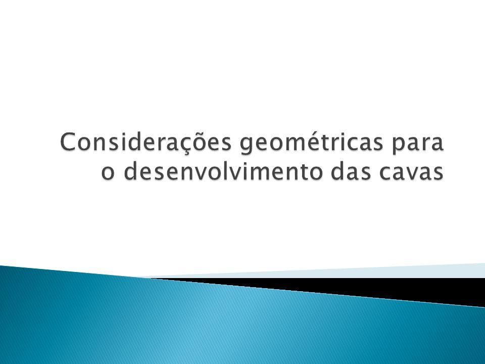 Considerações geométricas para o desenvolvimento das cavas