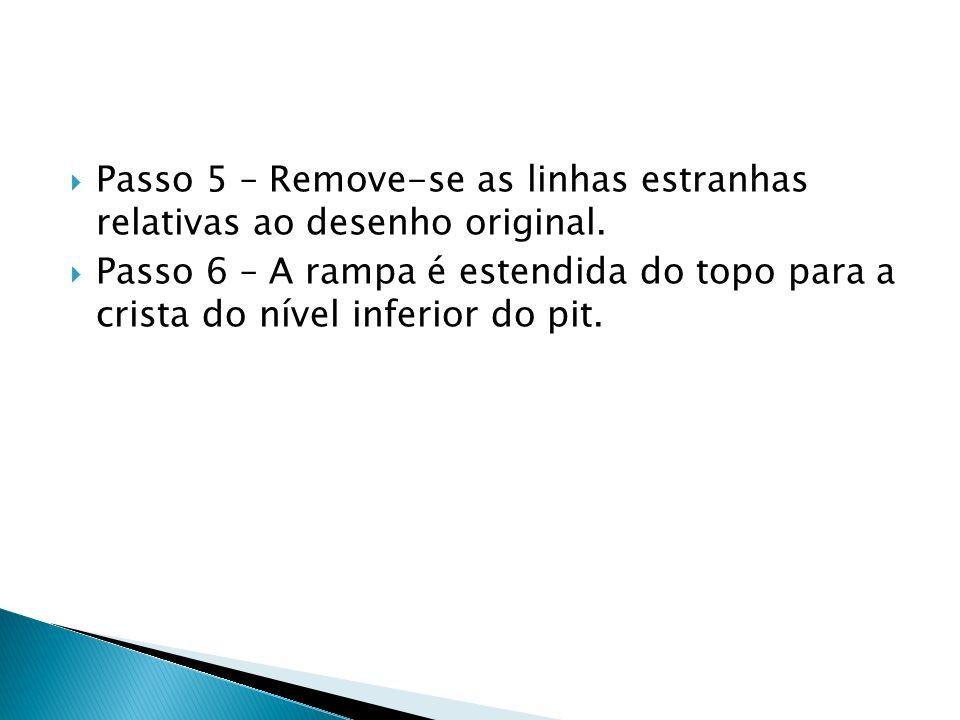 Passo 5 – Remove-se as linhas estranhas relativas ao desenho original.
