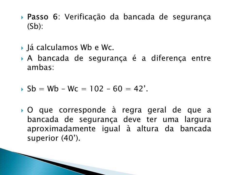 Passo 6: Verificação da bancada de segurança (Sb):