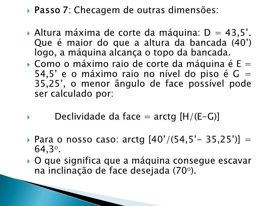 Passo 7: Checagem de outras dimensões: