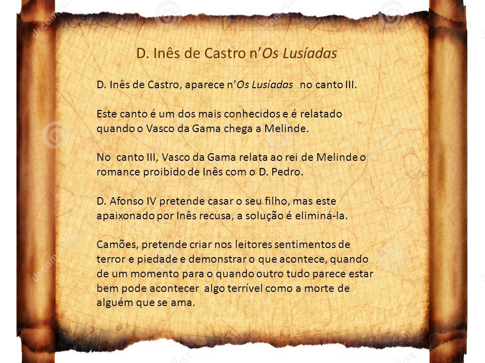 D. Inês de Castro n'Os Lusíadas