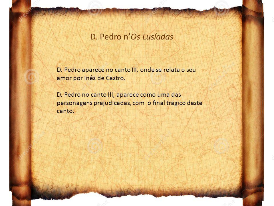 D. Pedro n'Os Lusíadas