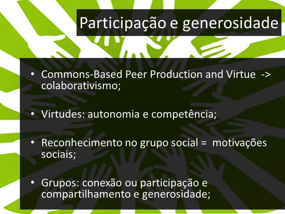 Participação e generosidade