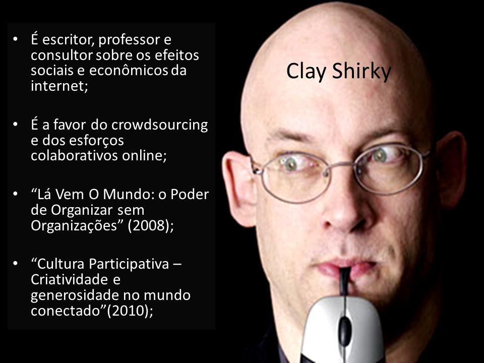 É escritor, professor e consultor sobre os efeitos sociais e econômicos da internet;