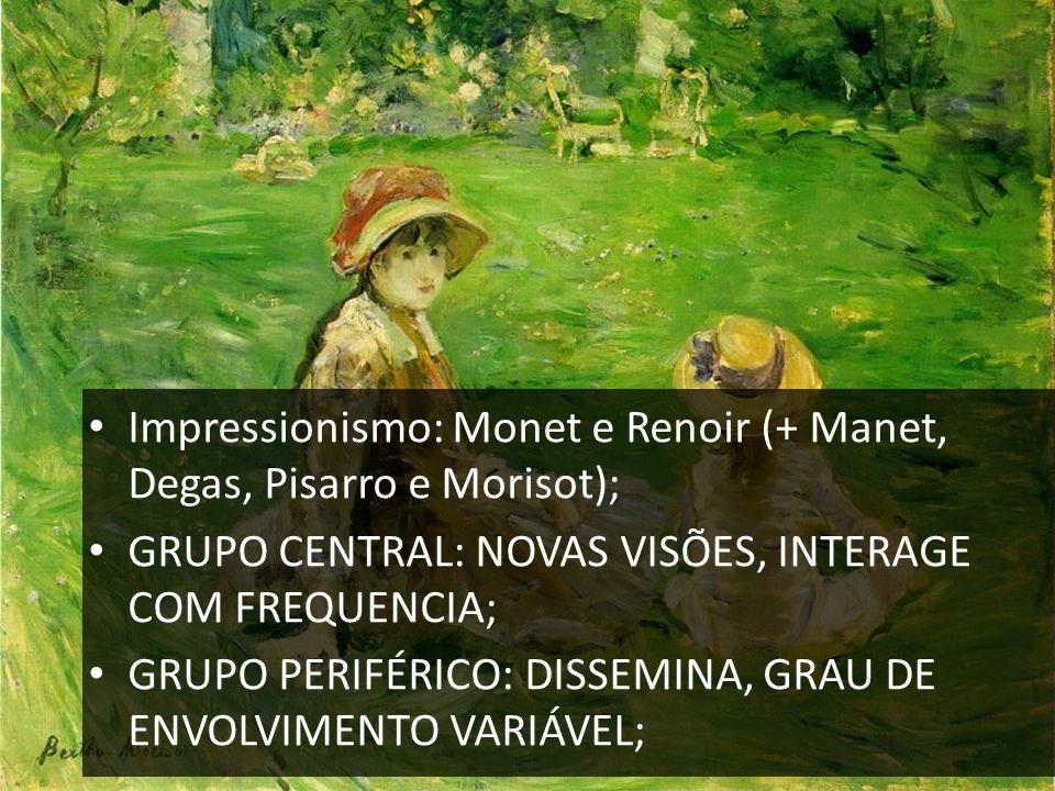 Impressionismo: Monet e Renoir (+ Manet, Degas, Pisarro e Morisot);