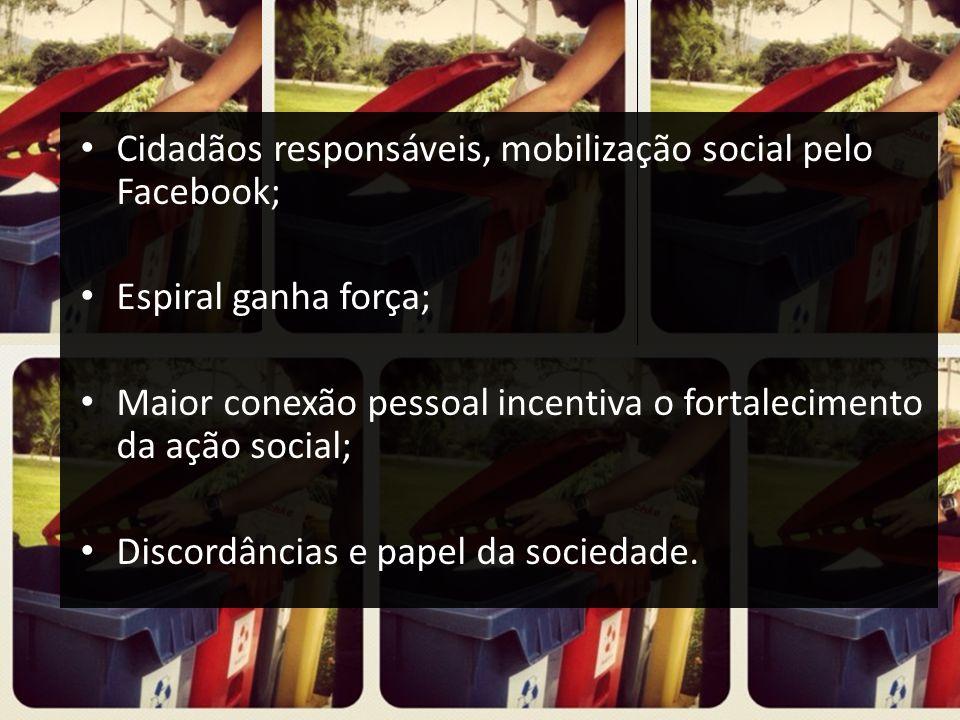 Cidadãos responsáveis, mobilização social pelo Facebook;