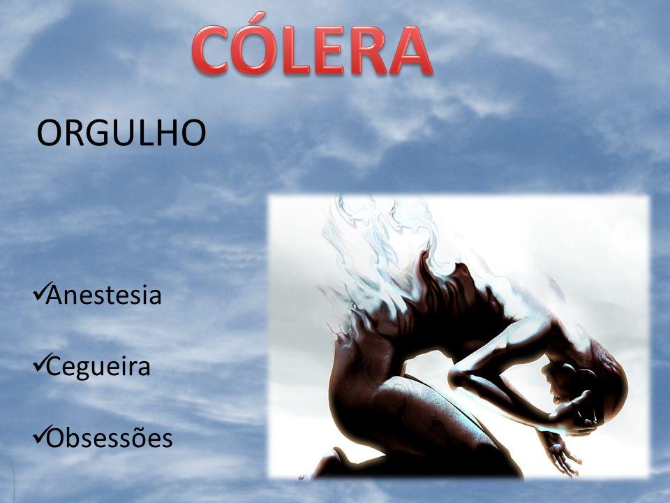CÓLERA ORGULHO Anestesia Cegueira Obsessões