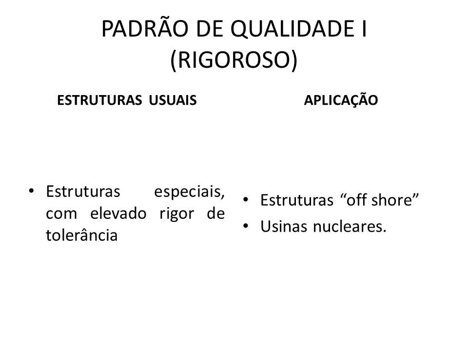 PADRÃO DE QUALIDADE I (RIGOROSO)