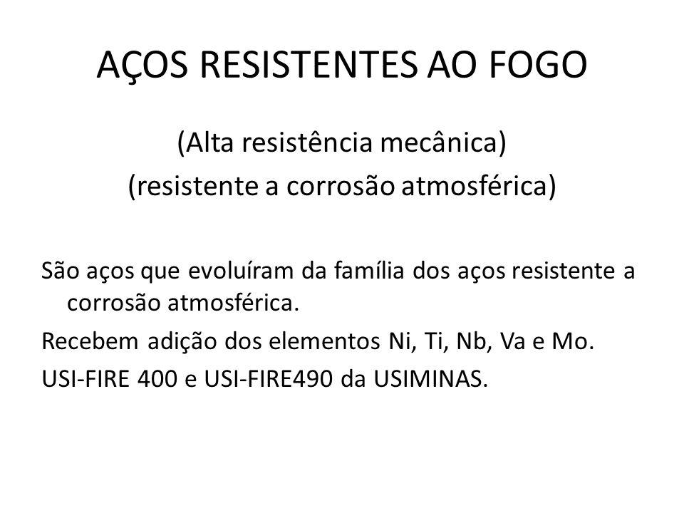 AÇOS RESISTENTES AO FOGO