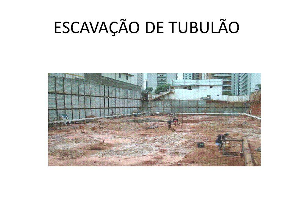 ESCAVAÇÃO DE TUBULÃO
