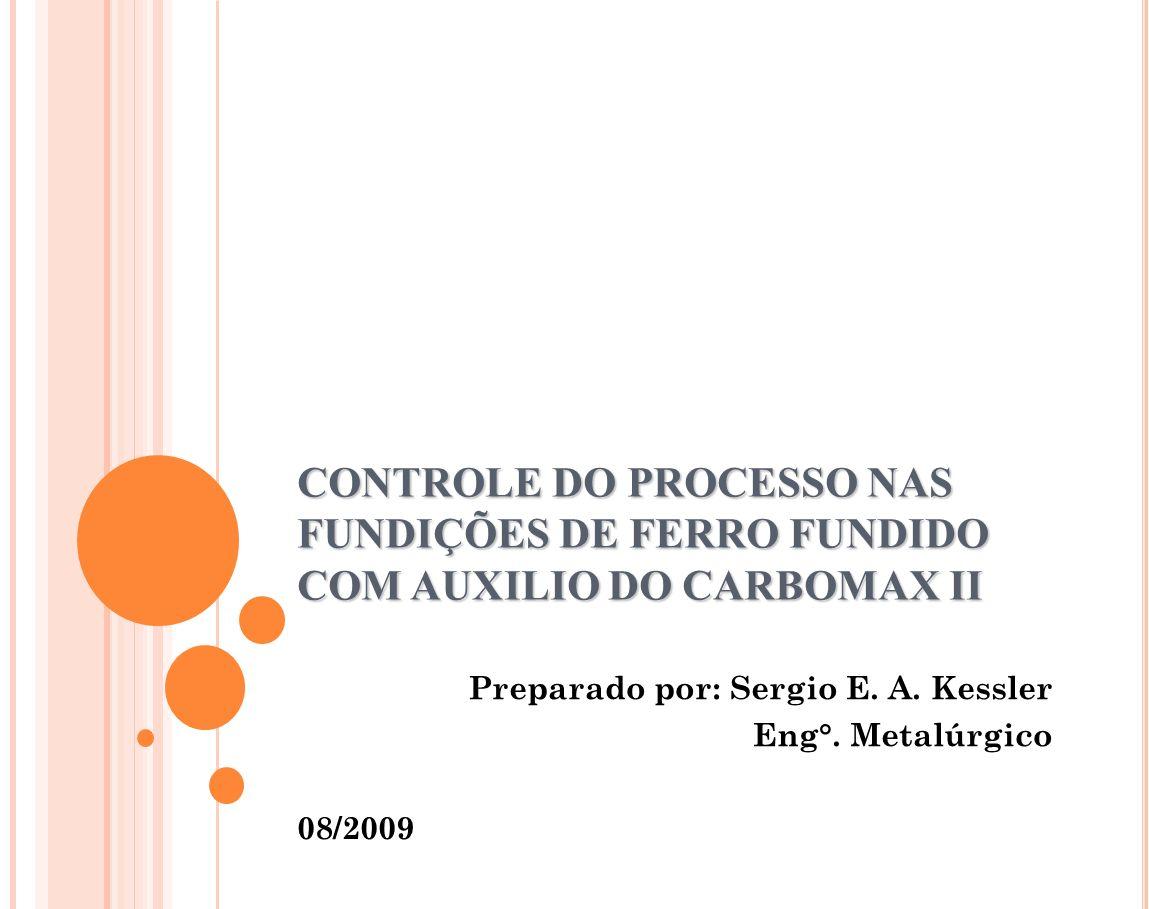 Preparado por: Sergio E. A. Kessler Eng°. Metalúrgico 08/2009