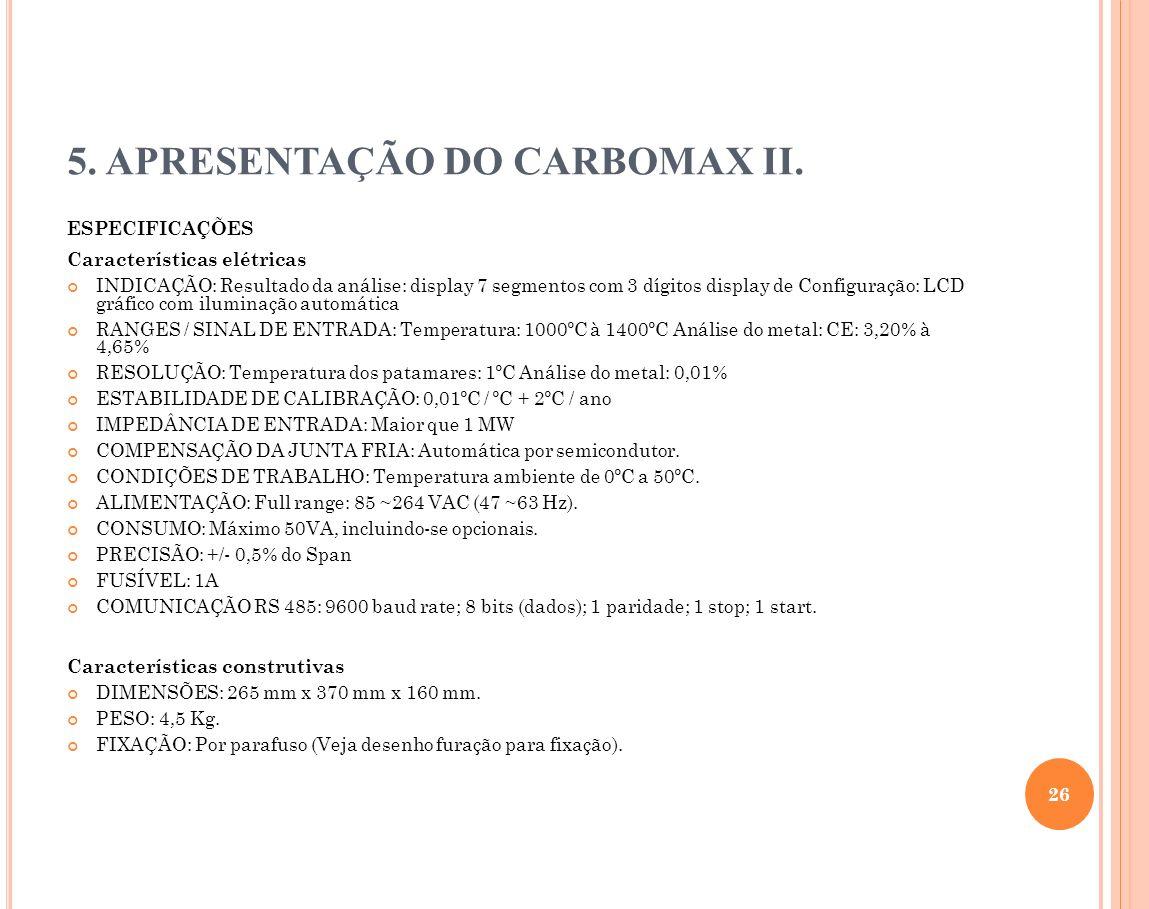 5. APRESENTAÇÃO DO CARBOMAX II.