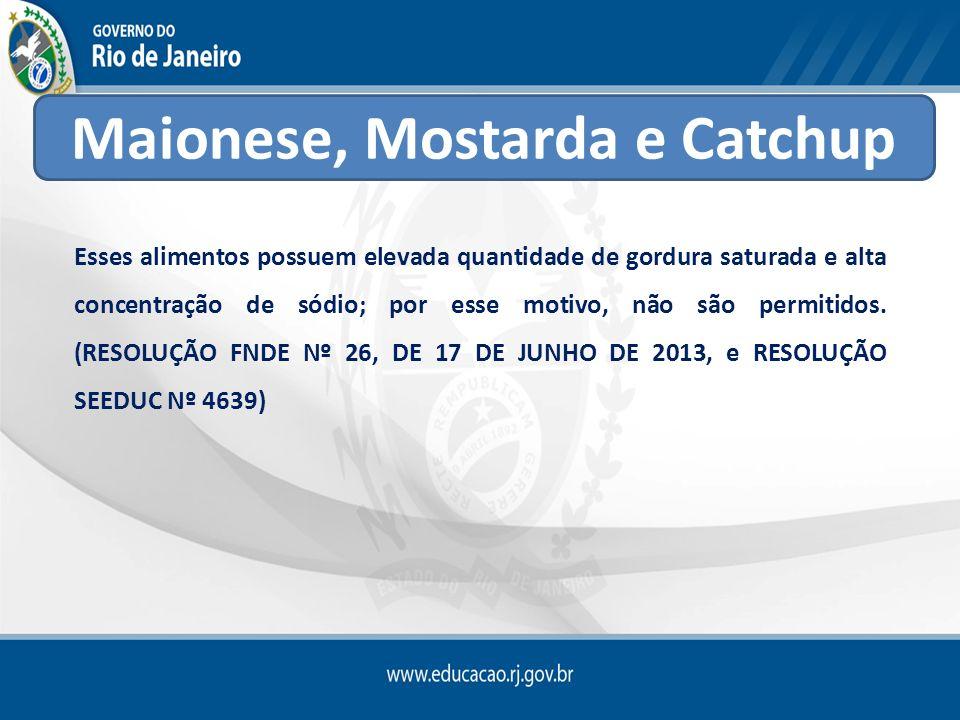 Maionese, Mostarda e Catchup