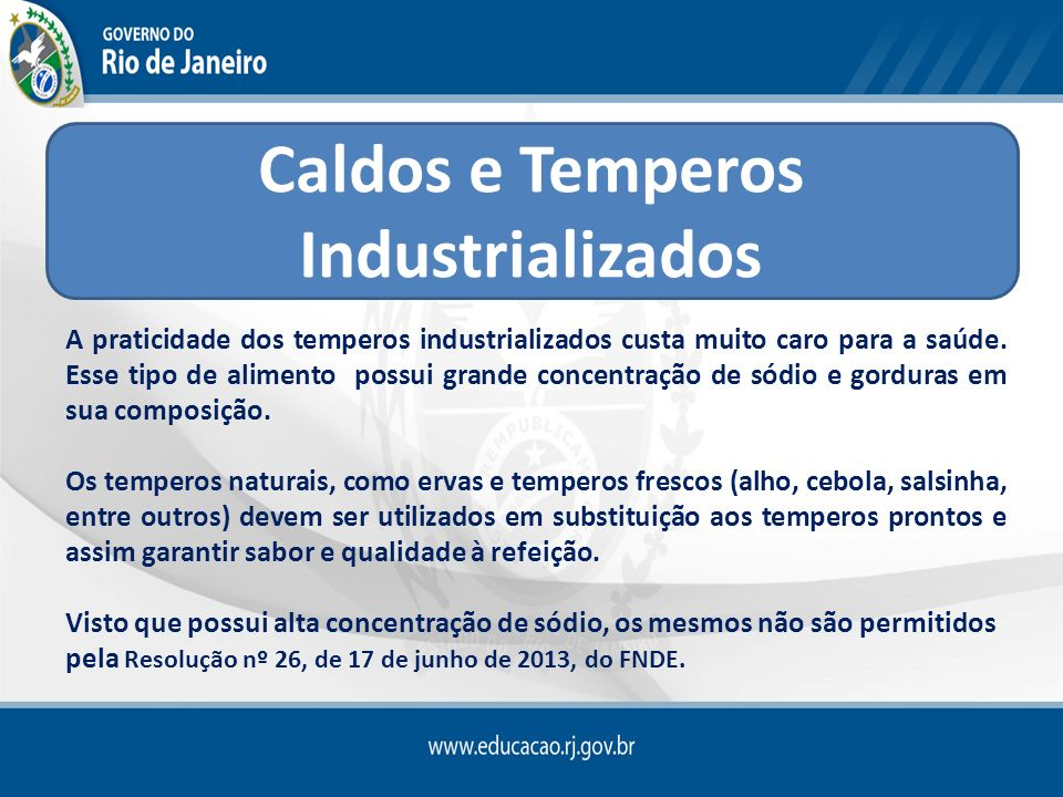 Caldos e Temperos Industrializados