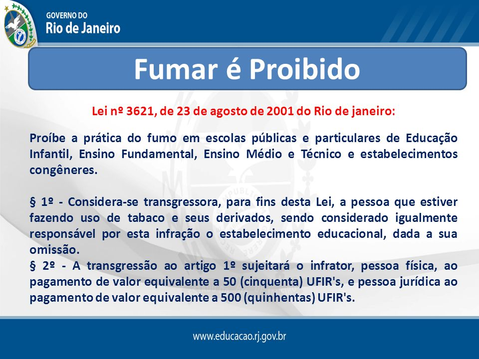 Lei nº 3621, de 23 de agosto de 2001 do Rio de janeiro:
