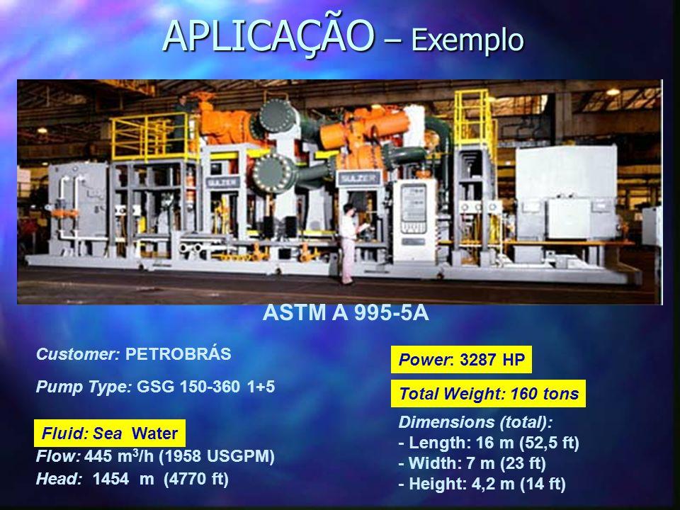 APLICAÇÃO – Exemplo ASTM A 995-5A Customer: PETROBRÁS Power: 3287 HP