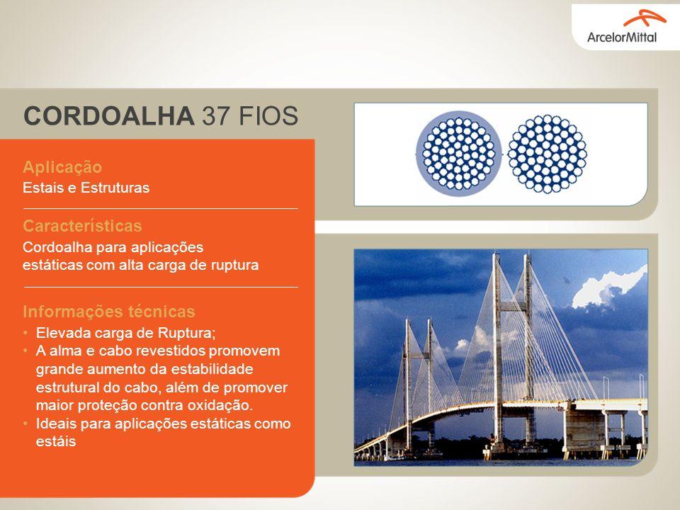 CORDOALHA 37 FIOS Aplicação Características Informações técnicas