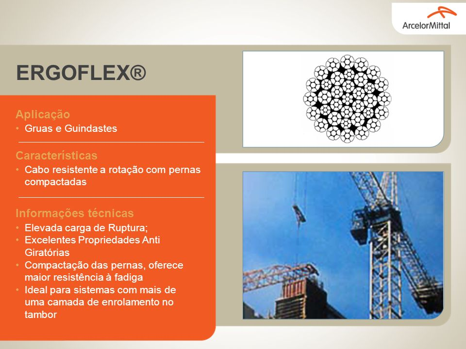 ERGOFLEX® Aplicação Características Informações técnicas