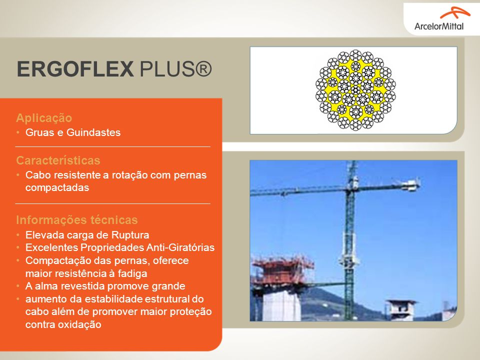 ERGOFLEX PLUS® Aplicação Características Informações técnicas