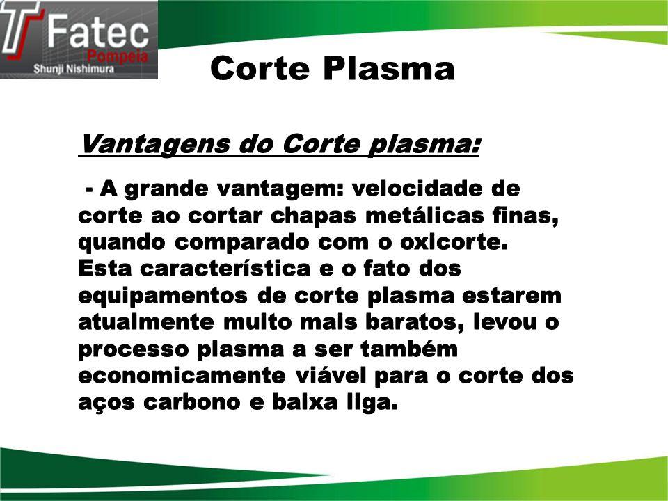Corte Plasma Vantagens do Corte plasma: Vantagens do Corte plasma: