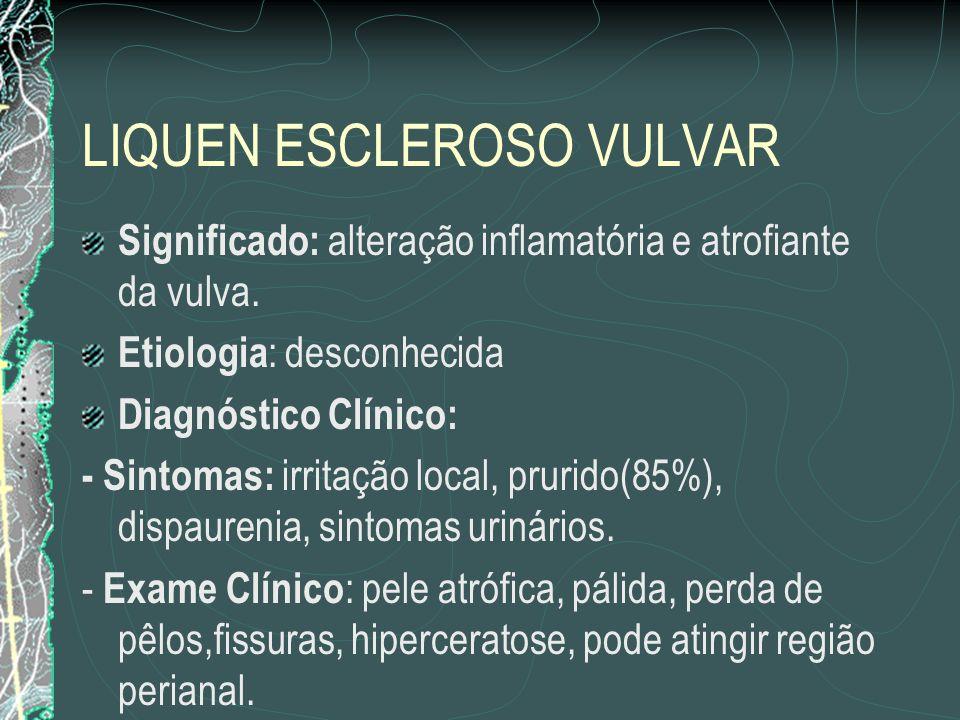 LIQUEN ESCLEROSO VULVAR