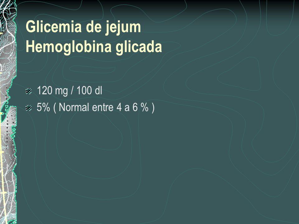 Glicemia de jejum Hemoglobina glicada