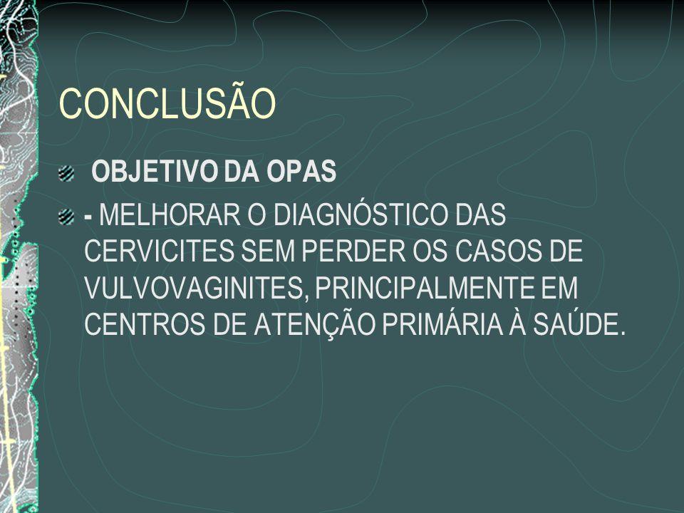 CONCLUSÃO OBJETIVO DA OPAS