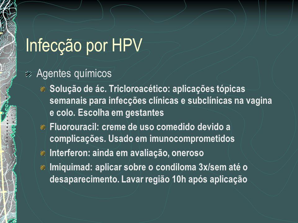 Infecção por HPV Agentes químicos