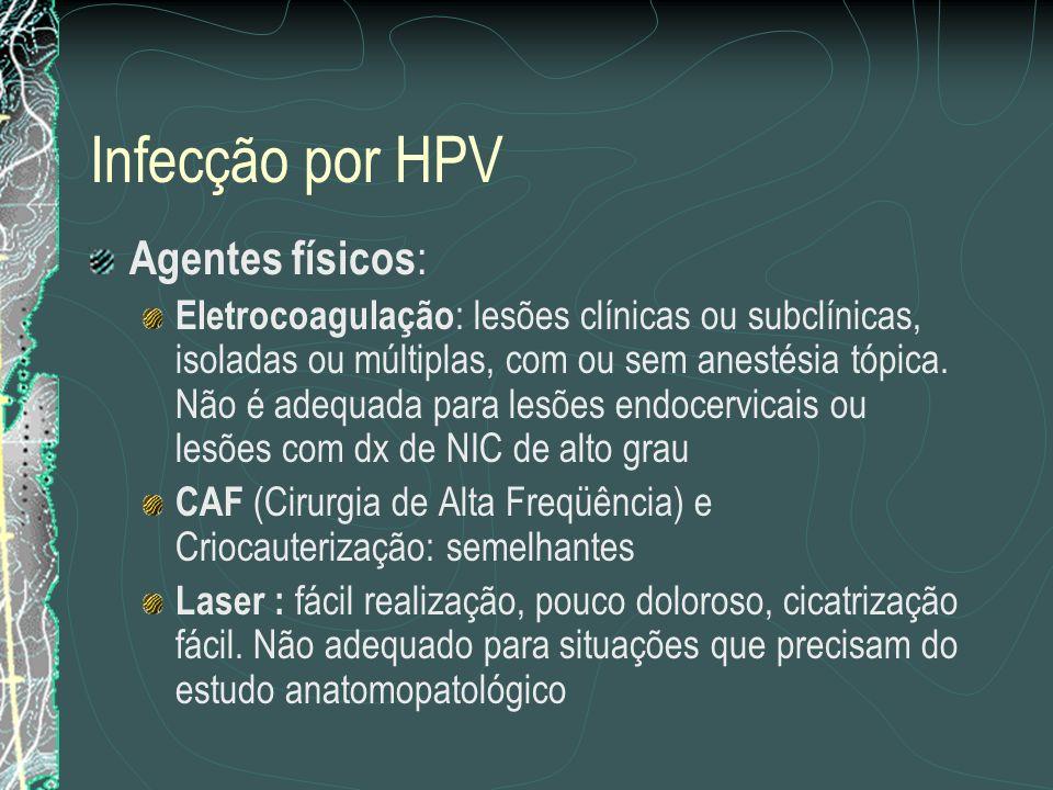 Infecção por HPV Agentes físicos: