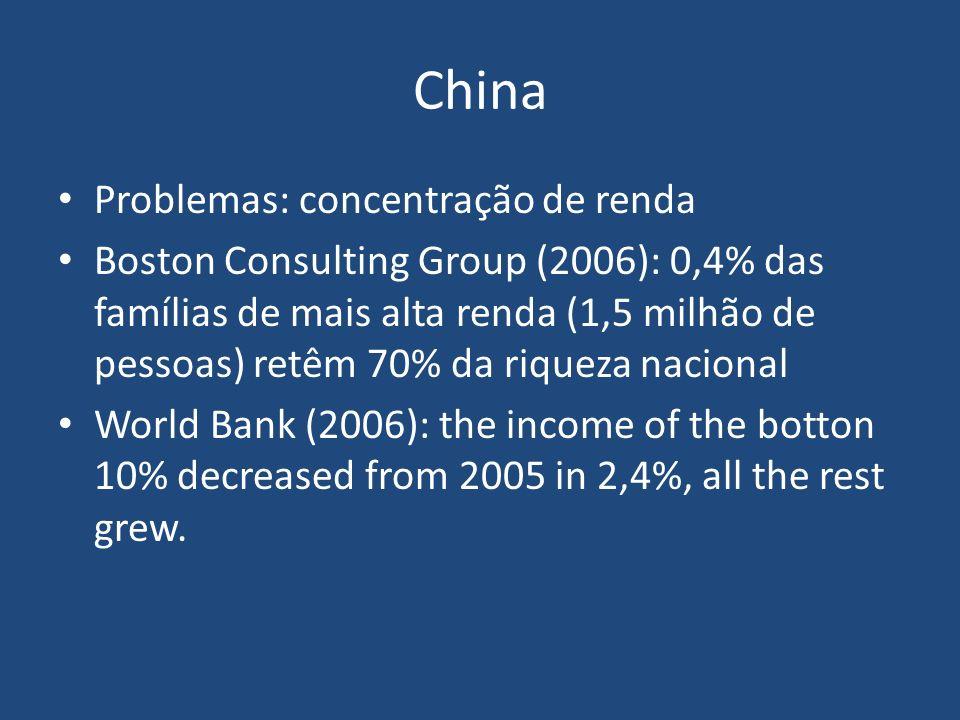 China Problemas: concentração de renda