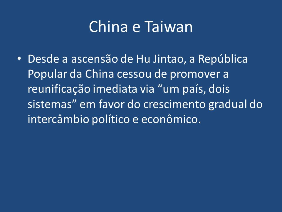 China e Taiwan