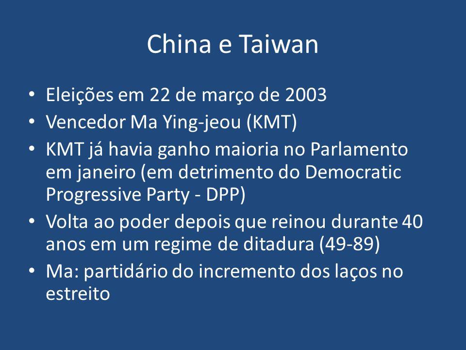 China e Taiwan Eleições em 22 de março de 2003
