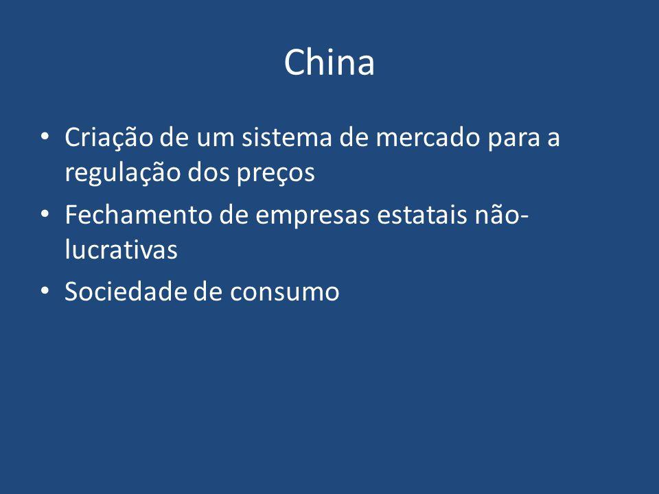 China Criação de um sistema de mercado para a regulação dos preços