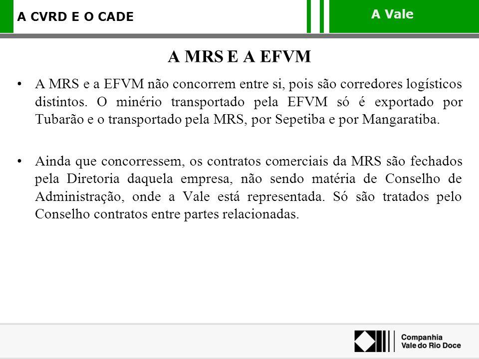 A MRS E A EFVM