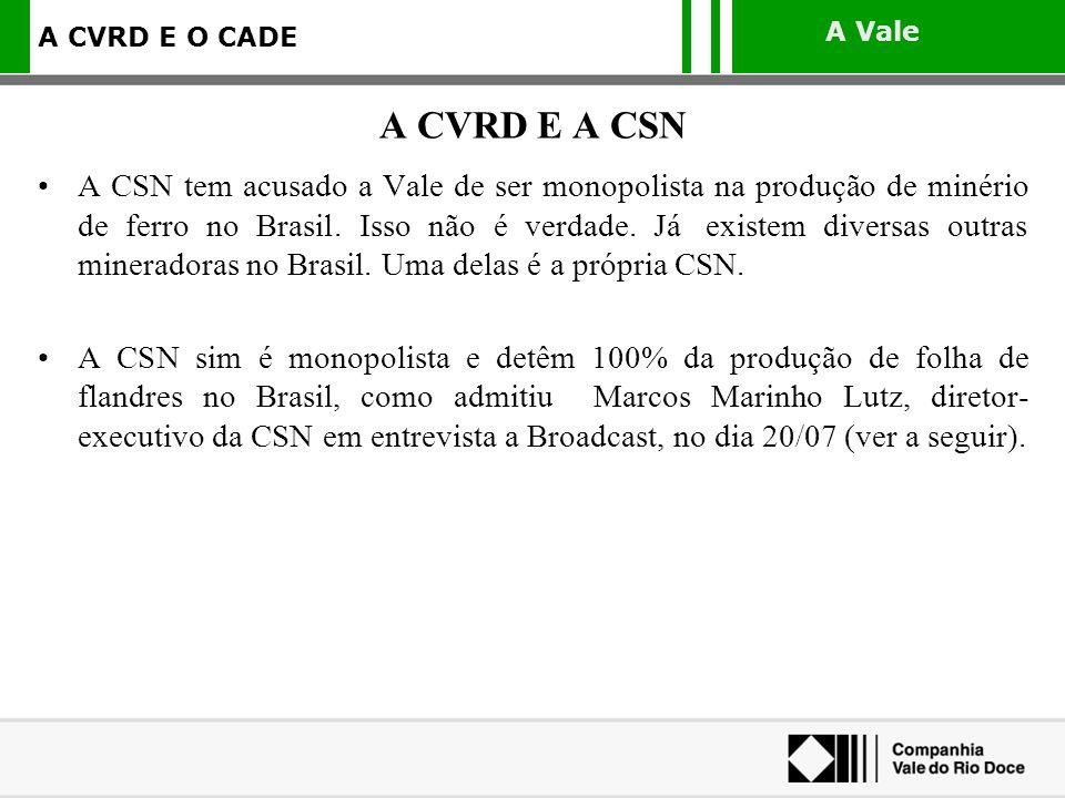 A CVRD E A CSN