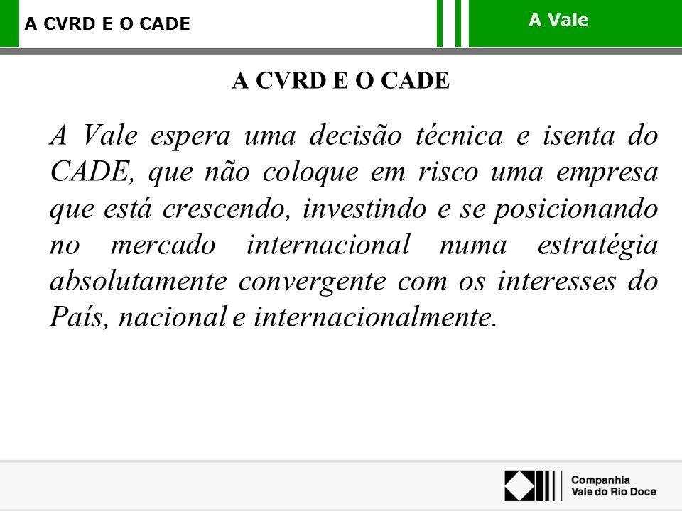 A CVRD E O CADE