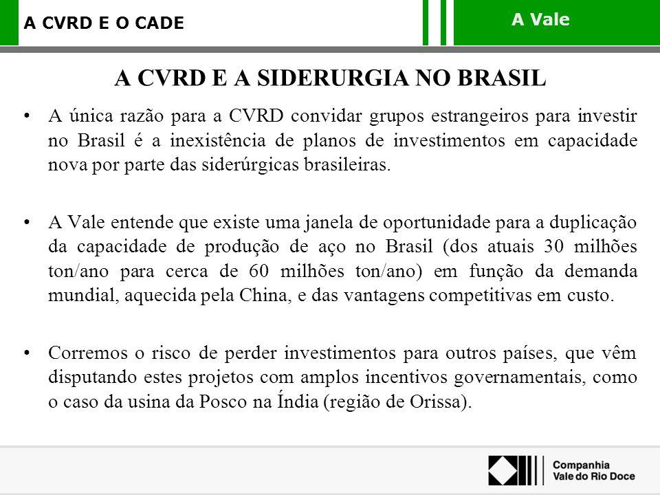 A CVRD E A SIDERURGIA NO BRASIL