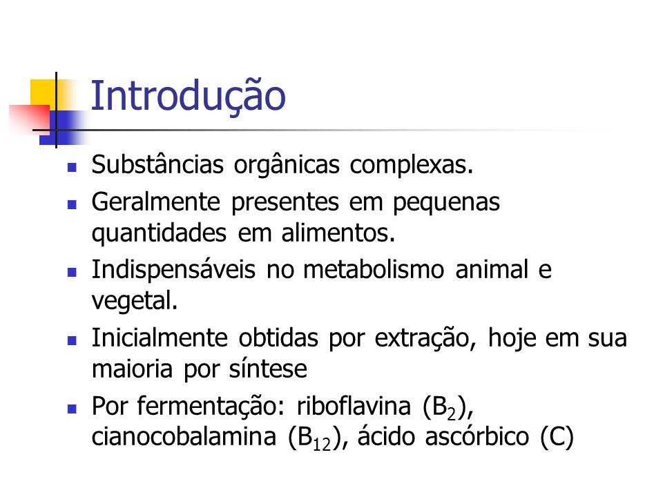 Introdução Substâncias orgânicas complexas.