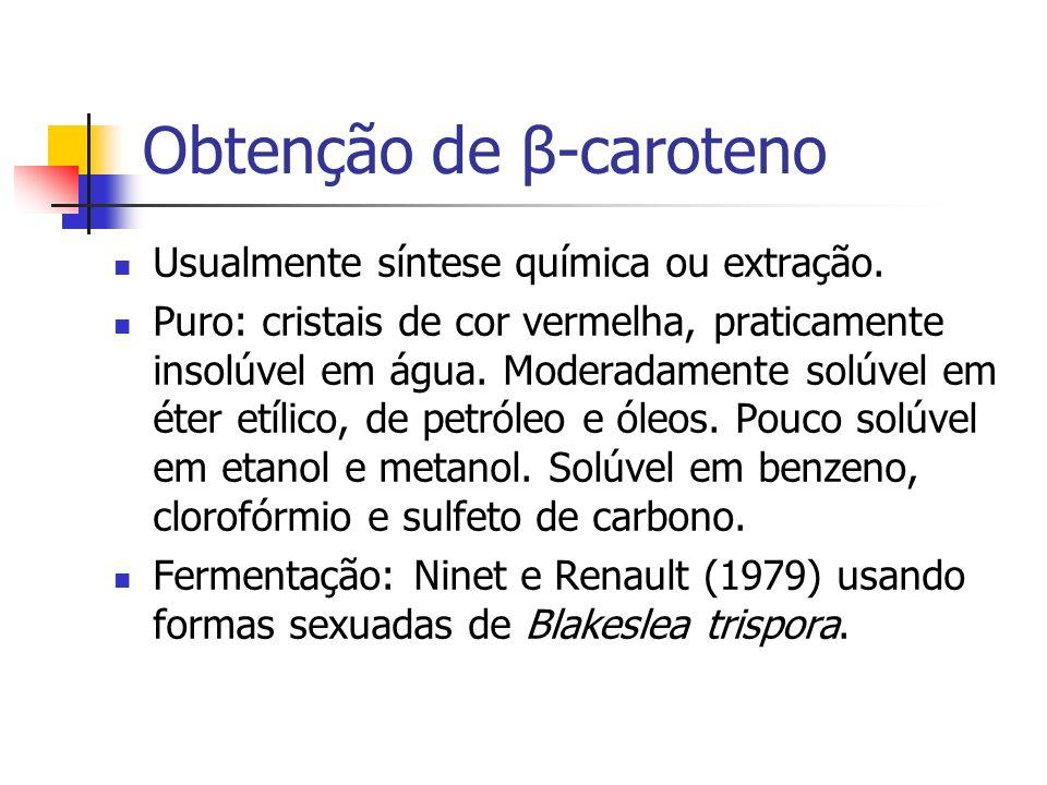 Obtenção de β-caroteno