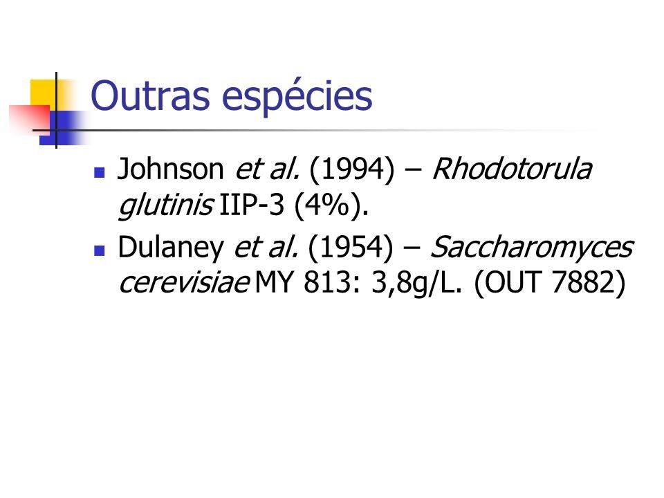 Outras espécies Johnson et al. (1994) – Rhodotorula glutinis IIP-3 (4%).