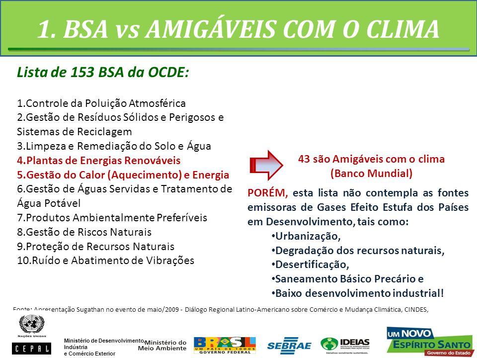 1. BSA vs AMIGÁVEIS COM O CLIMA