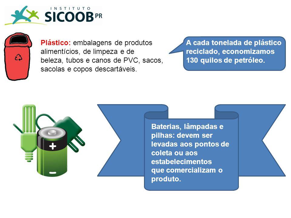 Plástico: embalagens de produtos alimentícios, de limpeza e de