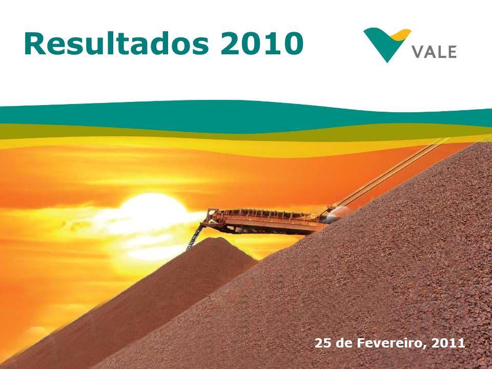 Resultados 2010 25 de Fevereiro, 2011