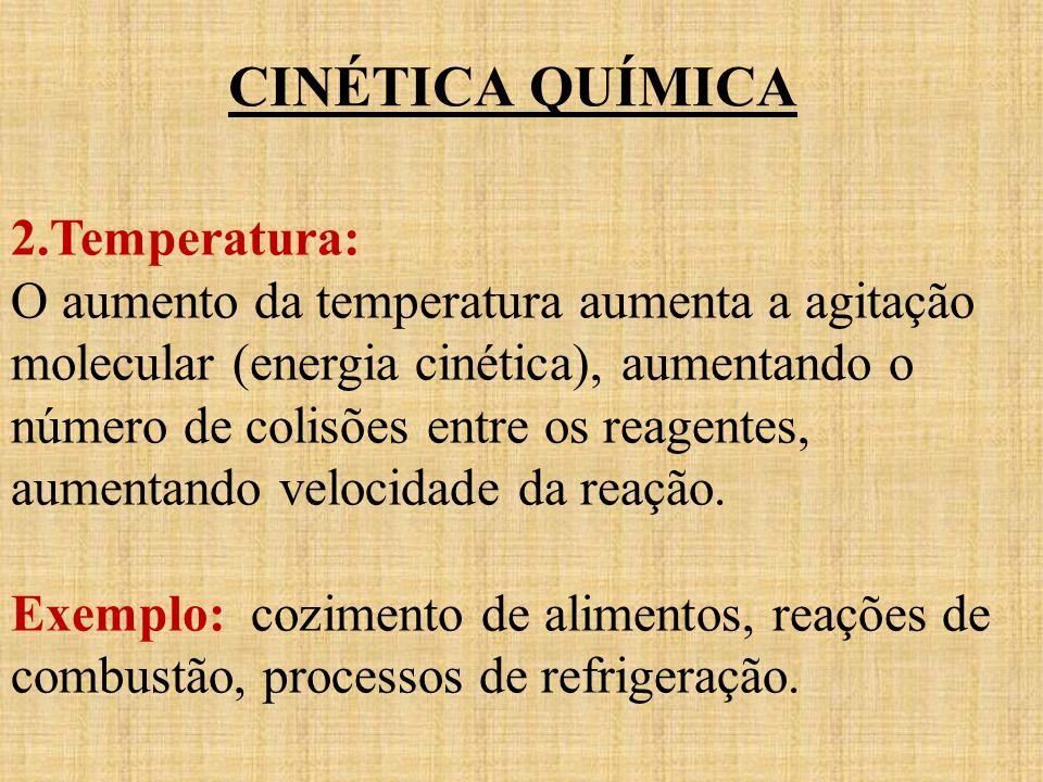 CINÉTICA QUÍMICA 2.Temperatura: