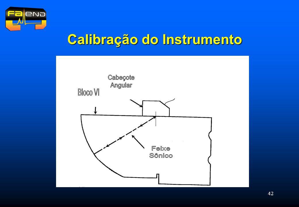 Calibração do Instrumento