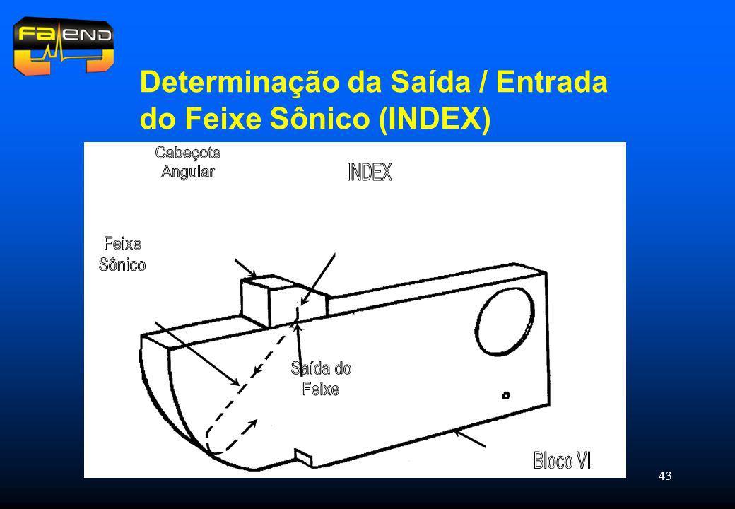 Determinação da Saída / Entrada do Feixe Sônico (INDEX)
